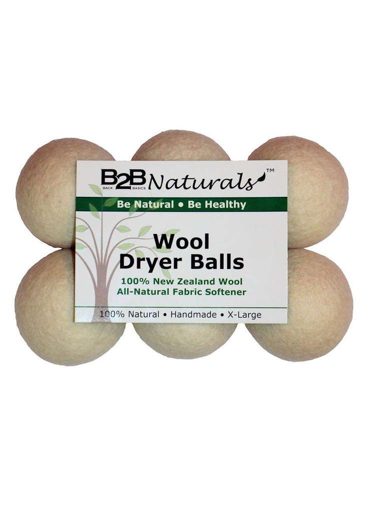 B2B Naturals™ Wool Dryer Balls - 6 Pack
