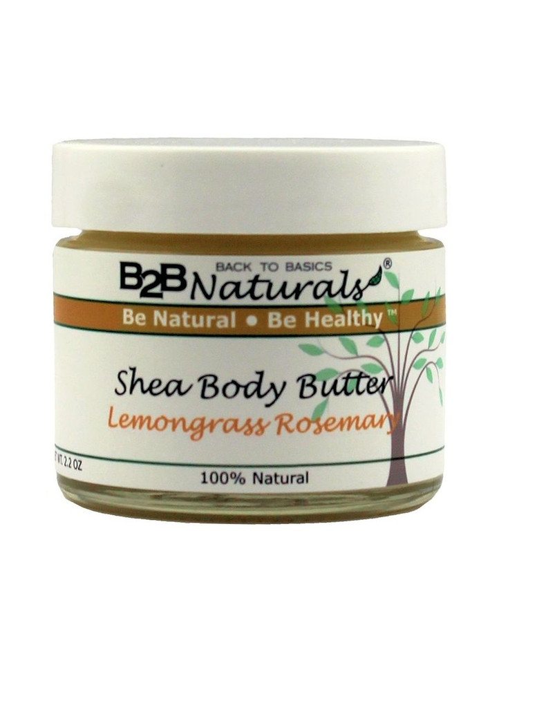 B2B Naturals® Lemongrass Rosemary Shea Body Butter is the crème de la crème when it comes to rich, luxurious, moisture to nourish and condition your skin.
