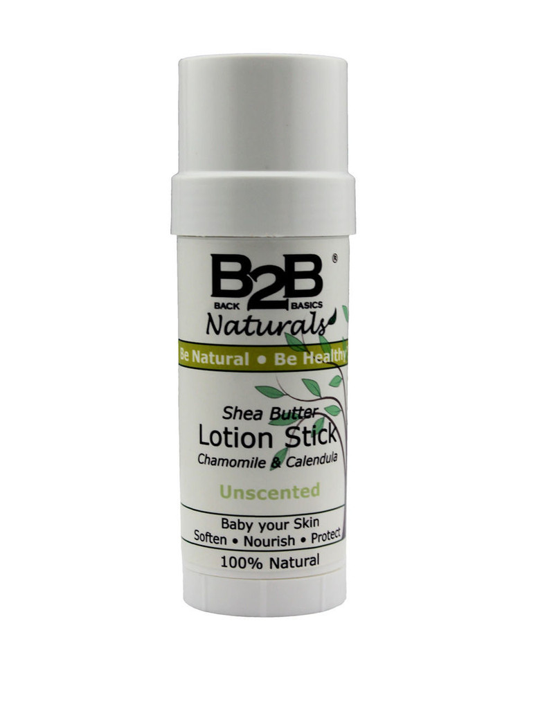Our 100% natural Shea Butter Lotion Stick with Chamomile and Calendula is specially formulated with moisturizing butters and oils to nourish and pamper your skin.