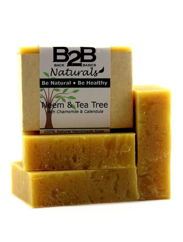 This is a wonderfully smooth and luxurious premium bar of soap.  We have combined the healing properties of Neem and Tea Tree with nourishing oils and soothing Chamomile and Calendula Flowers.  In addition, it contains pure essential oils widely known for their antibacterial and skin healing properties.  It has quickly become a favorite for those with acne, eczema, dermatitis, and other skin conditions.  It has a deep, earthy, almost medicinal scent due to the addition of a generous amount of Neem Oil.