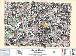Barton County Missouri 2013 Wall Map