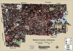 Benton County Arkansas 2016 Wall Map