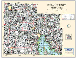 Cedar County Missouri 2010 Wall Map
