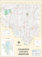 Chariton County Missouri 2013 Wall Map