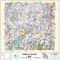 Cherokee County Oklahoma 2001 Wall Map