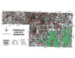 Christian County Missouri 2006 Wall Map