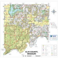 Clay County Missouri 2009 Wall Map