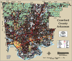 Crawford County Arkansas 2015 Wall Map
