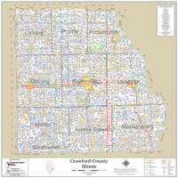 Crawford County Illinois 2018 Wall Map