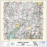 Dent County Missouri 1999 Wall Map