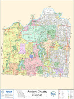 Jackson County Missouri 2011 Wall Map