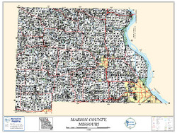 Marion County Missouri 2010 Wall Map