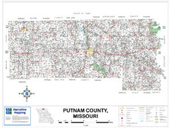 Putnam County Missouri 2009 Wall Map