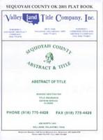 Sequoyah County Oklahoma 2001 Plat Book