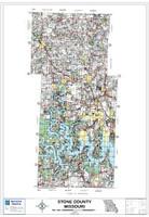 Stone County Missouri 2009 Wall Map