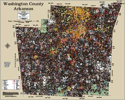 Washington County Arkansas 2015 Wall Map