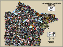 Wright County Minnesota 2016 Wall Map