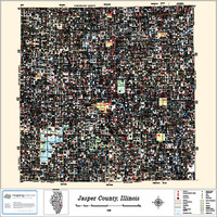 Jasper County Illinois 2013 Wall Map