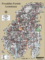 Franklin Parish Louisiana 2013 Wall Map