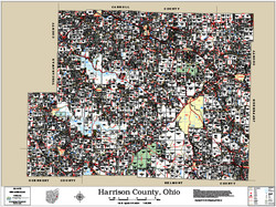 Harrison County Ohio 2014 Wall Map