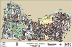 Colbert County Alabama 2014 Wall Map