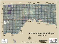 Mackinac County Michigan 2014 Aerial Map