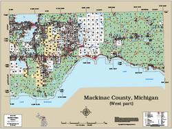 Mackinac County Michigan 2014 Wall Map