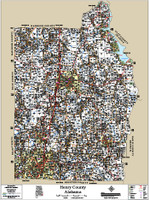 Henry County Alabama 2015 Wall Map