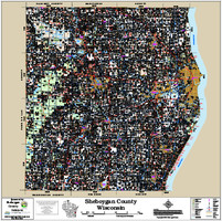 Sheboygan County Wisconsin 2018 Wall Map