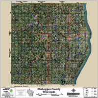 Sheboygan County Wisconsin 2018 Aerial Wall Map