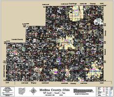 Medina County Ohio 2015 Wall Map