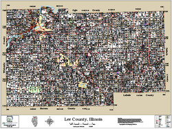 Lee County Illinois 2015 Wall Map