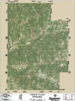 Calhoun County Mississippi 2015 Aerial Map
