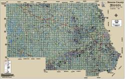 Stearns County Minnesota 2015 Aerial Map