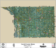 Carroll County Illinois 2016 Aerial Map