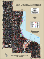 Bay County Michigan 2015 Wall Map