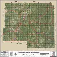 Prentiss County Mississippi 2016 Aerial Map