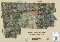Benton County Arkansas 2016 Aerial Map