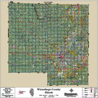 Winnebago-Boone Counties Illinois 2016 Aerial Map