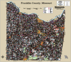 Franklin County Missouri 2017 Wall Map