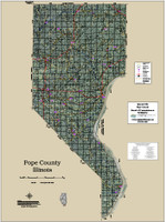 Pope County Illinois 2018 Aerial Wall Map