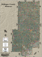 Bollinger County Missouri 2017 Aerial Wall Map