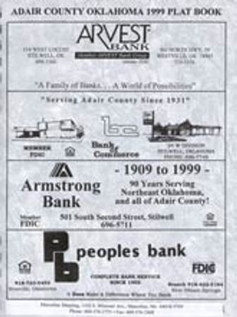 Adair County Oklahoma 1999 Plat Book