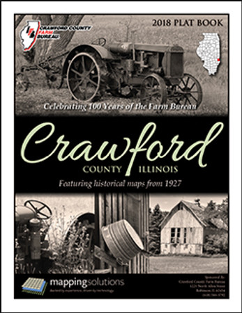 Crawford County Illinois 2018 Plat Book, Crawford County Illinois