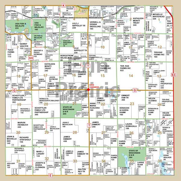 Mapping Solutions Custom Township Map