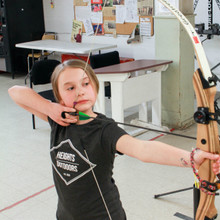 girl boy archery lessons learn teach coach fun family youth adult heights archery academy winnipeg manitoba canada