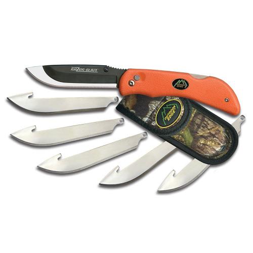 OUTDOOR EDGE RAZOR BLAZE KNIFE W 6 EXTRA BLADES