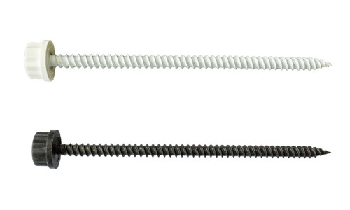"50/Pack Nylon Head 10 x 4"" Sheet Metal Screw - Choice Of Finish"