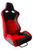 Cipher VP-8 Racing Seats Red w/ Black Carbon PU - Pair