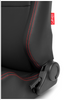 Cipher Auto - AR-8 Revo Racing Seats all black leatherette w/ red outer stitching